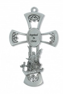 "Guardian Angel Pewter Cross - 6"" [RBS2018]"