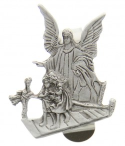 "Guardian Angel Visor Clip, Pewter - 2 1/4""H [AU0008]"