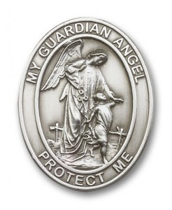 Oval Guardian Angel Visor Clip [AUBVC092]