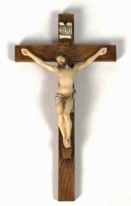 Hand Painted Resin Wall Crucifix - 10 Inches [GSCH1092]