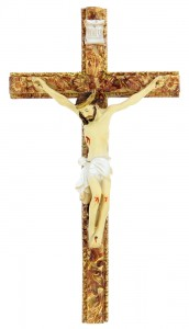 Hand Painted Tomaso Ornate Crucifix - 8 inch [CRX03108]