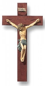Hand Painted Tomaso Roma Crucifix - 8 inch [CRX03018]