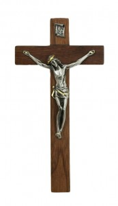 Hardwood Crucifix with Two-Tone Corpus 7 Inch [CRX4438]