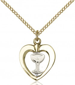 Heart Shaped Chalice Medal [BC0062]