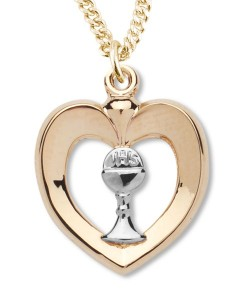 Heart Shaped Pendant with Chalice Centerpiece [REC0002]