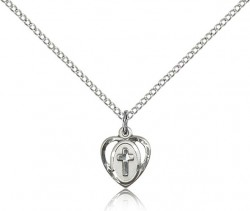 Baby Heart and Cross Pendant [BM0356]