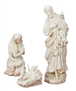 "Holy Family Ivory Nativity Set - 38""H [RM0364]"