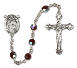 Holy Family Sterling Silver Heirloom Rosary Fancy Crucifix [RBEN1012]