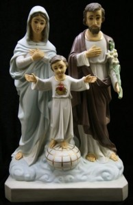 Holy Family Statue Hand Painted Marble Composite - 23.5 inch [VIC2006]