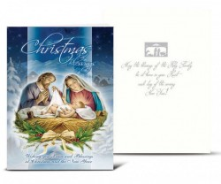 Holy Family Winter Scene Christmas Card Set [HRCR808]