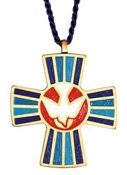 Holy Spirit Cross Pendant / Teaching Ministry Pendant [TCG0407]