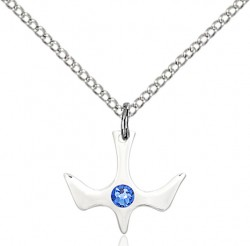 Holy Spirit Pendant with Birthstone Options [BLST5431]