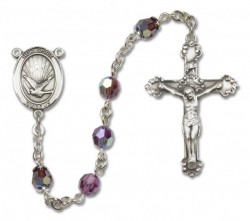 Holy Spirit Sterling Silver Heirloom Rosary Fancy Crucifix [RBEN1013]