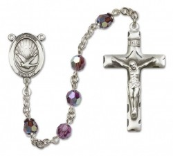 Holy Spirit Sterling Silver Heirloom Rosary Squared Crucifix [RBEN0013]