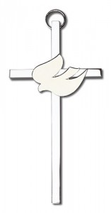 "Holy Spirit Wall Cross with White Dove 4"" [CRB0011]"