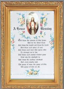 House Blessing Antique Gold Framed Print [HFA0056]