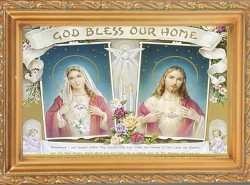 House Blessing Antique Gold Framed Print [HFA0088]