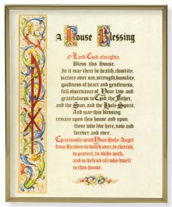 House Blessing Gold Framed Print [HFA0170]