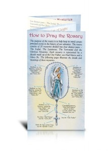 How To Pray the Rosary Folding Pamphlet - Packs of 10 [BKB0046]