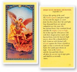 Hymn To St. Michael Archangel Laminated Prayer Cards 25 Pack [HPR332]