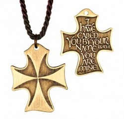 I Have Called You By Name Bronze Cross Pendant [TCG0309]