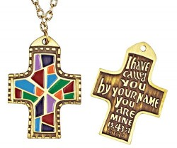 I Have Called You By Name Multi-Colored Cross Pendant [TCG0282]
