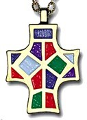 I Have Called You By Name Multi-Colored Cross Pendant [TCG0297]