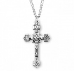 IHS Tip Men's Crucifix Necklace [HMM3286]