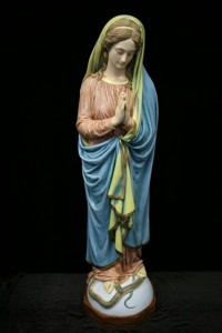 Immaculate Conception Statue Hand Painted Marble Composite - 45 inch [VIC1014]