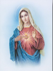"Immaculate Heart Large Poster - 19""W x 27""H [HFA0367]"