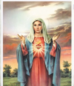 Immaculate Heart of Mary Print - Sold in 3 per pack [HFA1102]