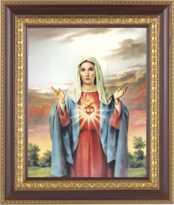 Immaculate Heart of Mary Framed Print [HFP205]