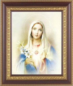 Immaculate Heart of Mary Framed Print [HFP211]