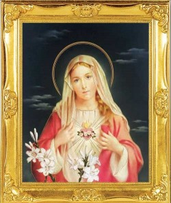 Immaculate Heart of Mary Framed Print [HFP3001]