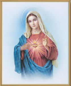 Immaculate Heart of Mary Gold Framed Print [HFA0148]