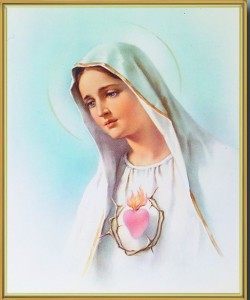 Immaculate Heart of Mary Gold Framed Print [HFA0180]
