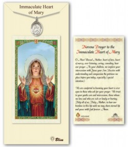 Immaculate Heart of Mary Medal in Pewter with Prayer Card [BLPCP057]