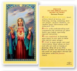 Immaculate Heart of Mary Novena Laminated Prayer Cards 25 Pack [HPR205]