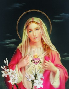 Immaculate Heart of Mary Print - Sold in 3 per pack [HFA1107]