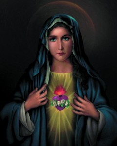 Immaculate Heart of Mary Print - Sold in 3 per pack [HFA1111]