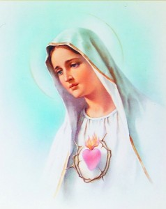 Immaculate Heart of Mary Print - Sold in 3 per pack [HFA1129]