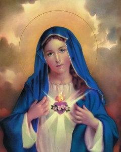 Immaculate Heart of Mary Print - Sold in 3 per pack [HFA1210]
