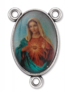 Immaculate Heart of Mary Rosary Centerpiece - 50 pieces [HCR2446]
