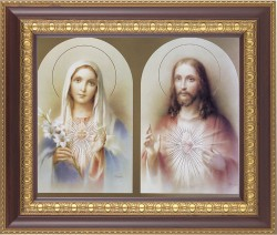 Immaculate Heart of Mary and Sacred Heart of Jesus Framed Print [HFP192]