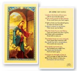 In The Time of Loss Laminated Prayer Cards 25 Pack [HPR737]