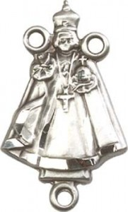 Infant Figure Sterling Silver Rosary Centerpiece [BLCR0163]