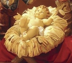 "Infant Jesus with Cradle Nativity Set - 50"" [RM0194]"