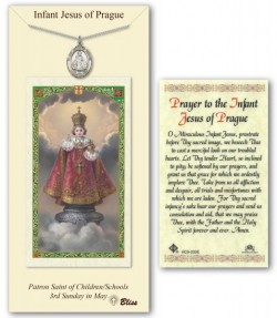 Infant of Prague Medal in Pewter with Prayer Card [BLPCP055]