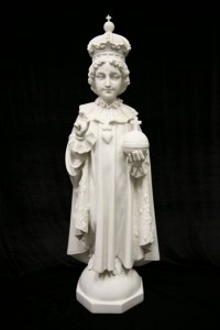 Infant of Prague Statue White Marble Composite - 44 inch [VIC4076W]