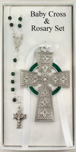 Irish Baby Cross with Baby Rosary Set [RBS016]